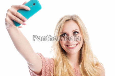 selfie of a blonde woman