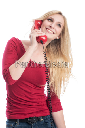 frau, telefoniert - 12624920
