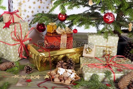 many parcel under christmas tree