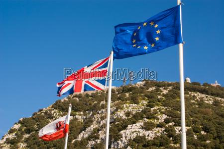 flaggen der europaeischen union grossbritannien und