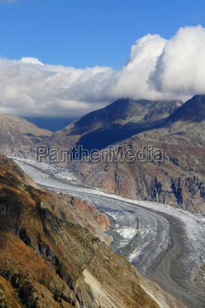 aletschgletscher gletscher schweiz alpen berge wallis