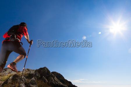 skyrunning in mountain