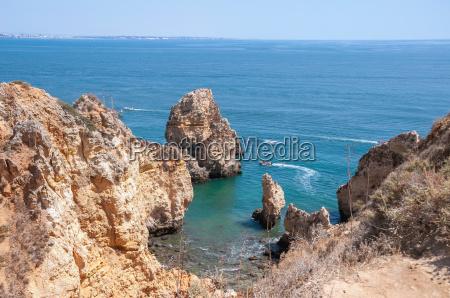 ponta da piedade rock formations near