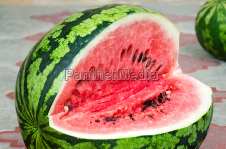 a ripe watermelon cut photographed