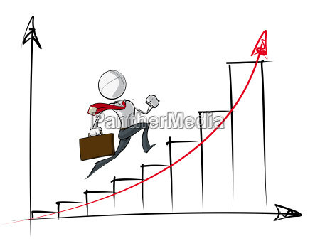 simple business people exponential growth