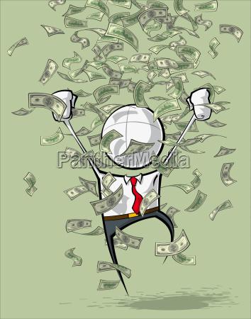 simple business people money rain