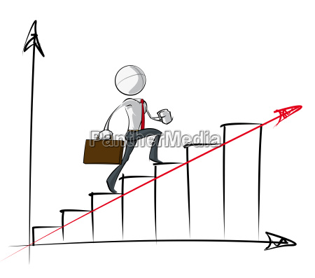 simple business people steady growth