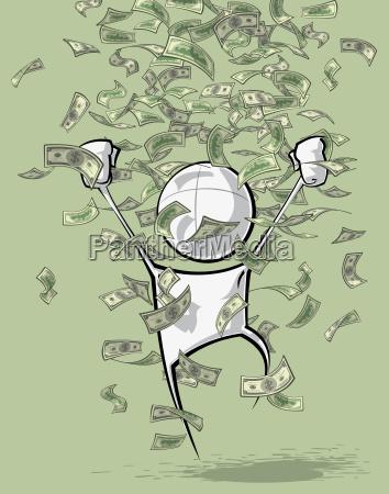 simple people money rain