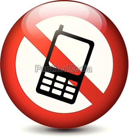 no phone round sign