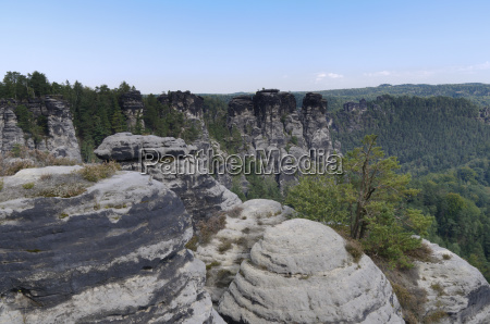 national park saxony bastion scenery countryside