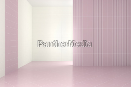 leer modernes badezimmer mit lila kacheln