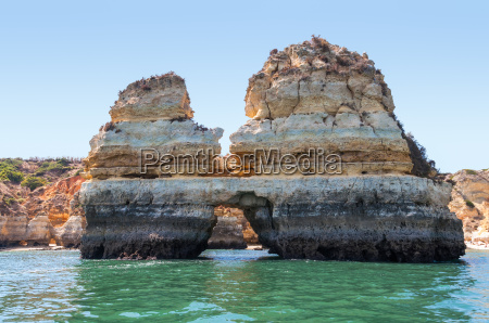 rock formations near lagos seen from