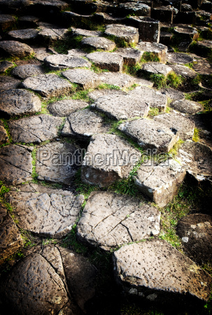 hexagon felsen am giants causeway irland