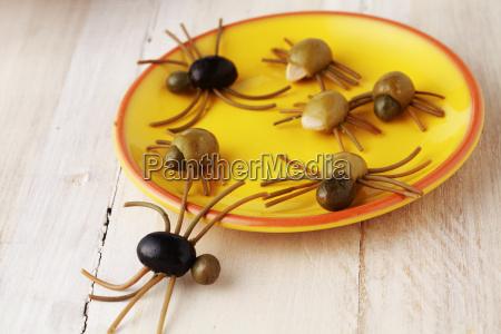 gruselig eisraue halloween spinne snacks