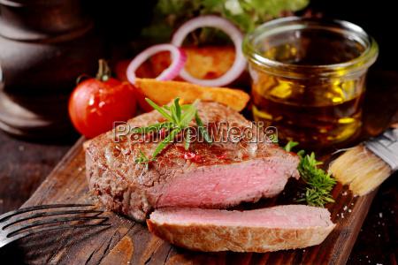 medaglione magro tenero di bistecca di