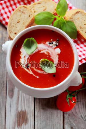 delicious bowl of fresh country tomato