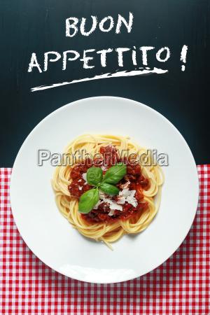spaghetti bolognese mit buon appetito anmelden