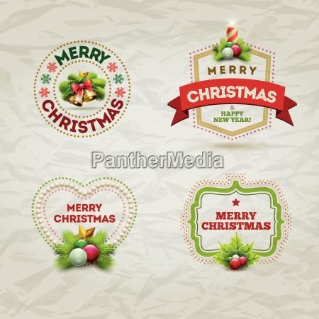 weihnachts badge set