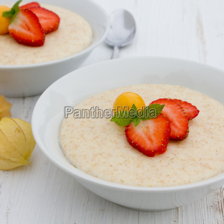 semolina porridge strawberries gooseberry semolina porridge