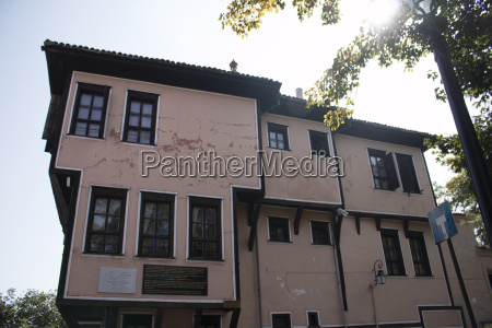 old city historical buildings in plovdiv