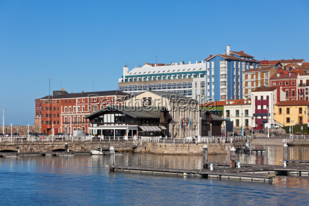 view on old port of gijon