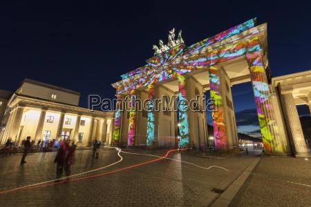 brandenburg gate for the festival of