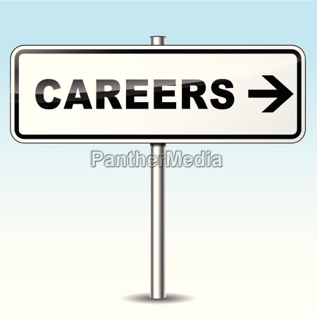 careers directional sign