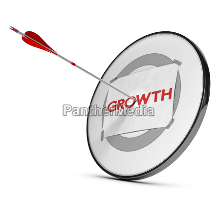 economic or business growth concept