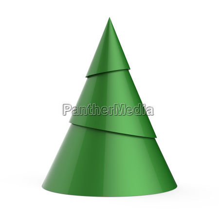 green stylized christmas tree isolated on