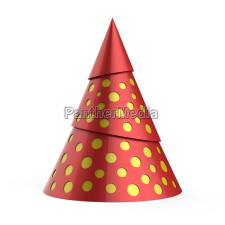 red stylized christmas tree with yellow