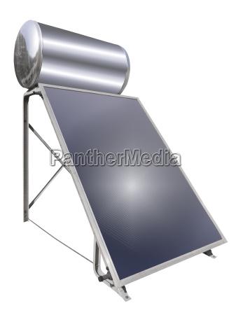 solardach wasser heizung isoliert
