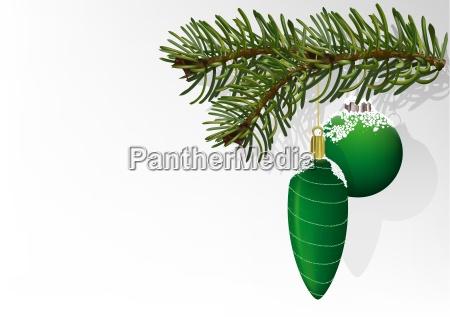 gruene weihnachtskugeln