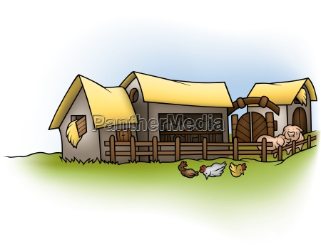 farm cartoon background illustration