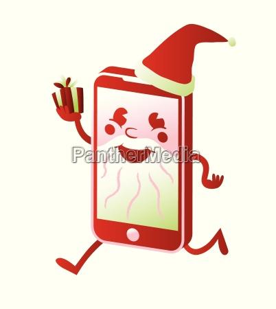 smartphone weihnachtsmann cartoon charakter weihnachten kaufen