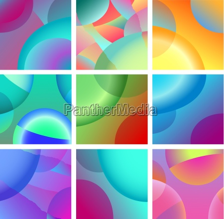 background abstract glow design set
