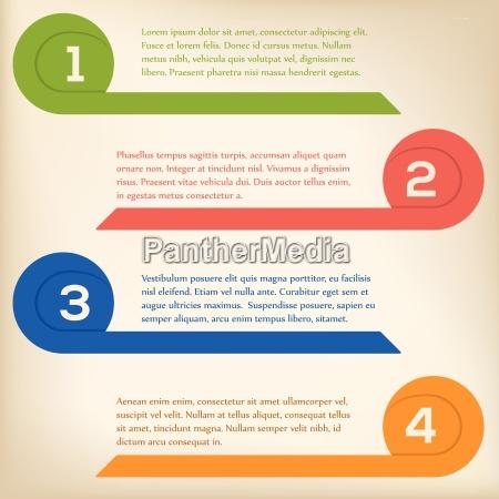 curling pfeil infografik auf hellem hintergrund