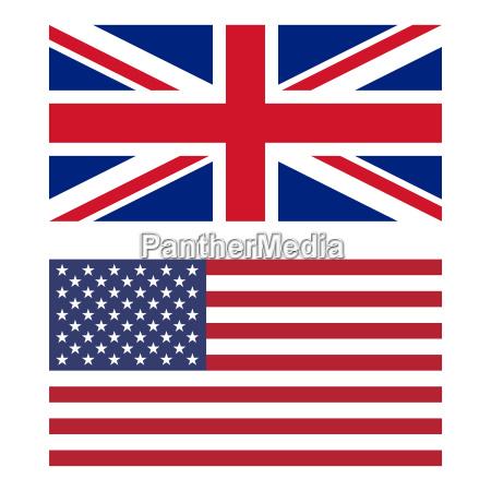 flagge des vereinigten koenigreichs und der