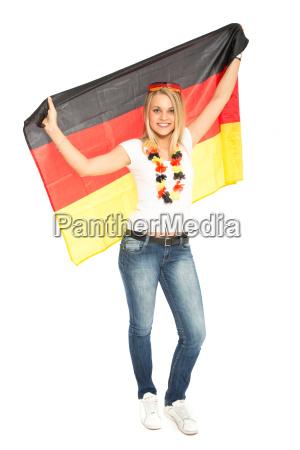 weiblicher deutschland fan
