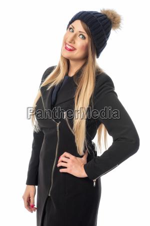 woman in winter fashion
