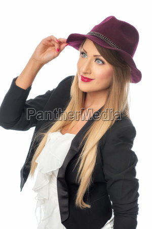 woman with ladys hat