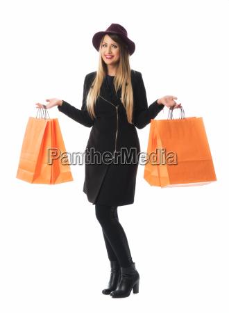woman makes shopping