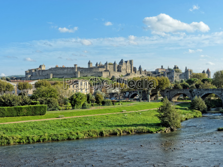 carcassonne fortified town france