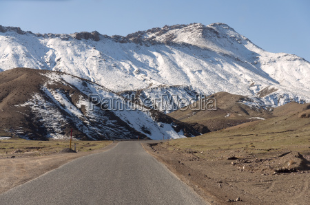 road in the atlas mountains in