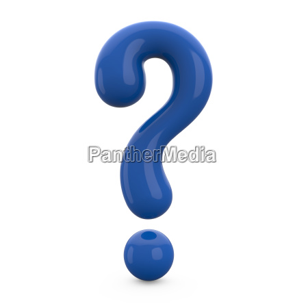 blue 3d question mark isolated on