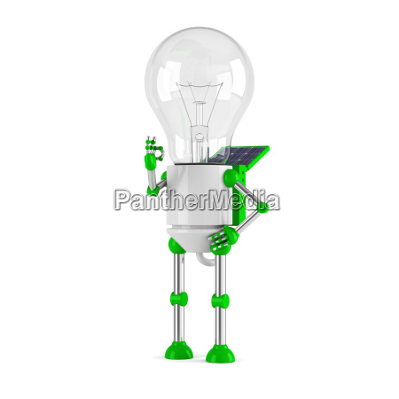 solarbetriebene gluehbirne roboter ok