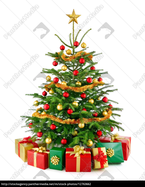 Foto Weihnachtsbaum.Stockfoto 12763662 Perfekter Weihnachtsbaum Mit Geschenken