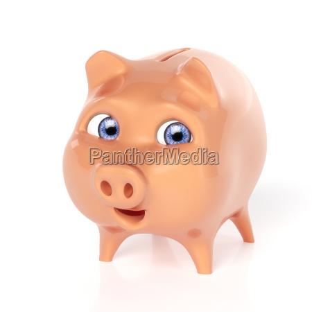 sparschwein zufrieden