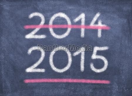 blackboard chalkboard year figures 2014 2015
