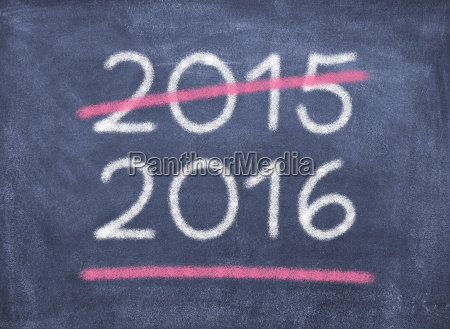 blackboard chalkboard year figures 2015 new