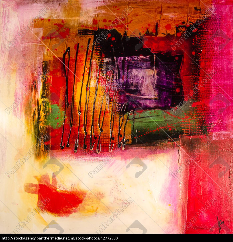 Moderne Abstrakte Malerei Bildender Kunst Lizenzfreies Foto